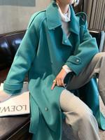 Elegant Long Cashmere Woolen Coat