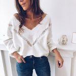 Lace Slim Jumper Fashion Slim  Long Sleeve Hollow Sweater