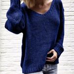 Pullovers Knitted Jumper V Neck Sweaters