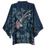 Cardigan Flower birds Print Causal Kimono