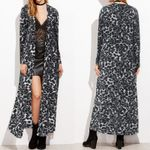 Cardigan Print Long Leopard Cape Casual Kimono
