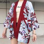 Print Vintage Pattern Cardigan Kimono