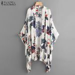 Print Sleeve Cardigan Casual Cover Up Shirts Kimono
