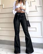 Skinny Sexy Vintage Flared High Waist Denim Flare Jeans