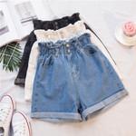Sexy Cotton Casual High Waist Wide Leg Denim shorts