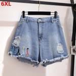 loose students High waist denim shorts