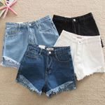 Casual Pockets Zipper Ripped Fashion Denim Shorts