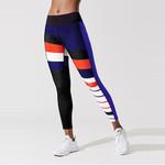 Casual Push Up Elastic Slim Stripe Pattern Printed Leggings
