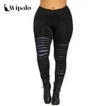 Fitness Workout  Elastic Waist Slim Galaxy Ripped Leggings