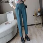 High Waist Loose Formal Elegant Ankle-Length Pants