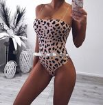 Leotard Backless Sexy Print Bodysuit