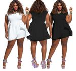 short Sleeve loose fat romper