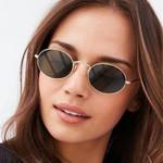 Oval Frame Vintage Fashion Cute Sexy Retro Sunglasses