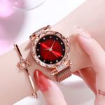gradient Rhinestone Stainless Luxury Magnetic Watches