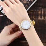 Stainless Steel Strip Marble Dial Fashion Simple Watches