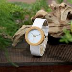 Genuine Leather Band Wrist Wood Watch