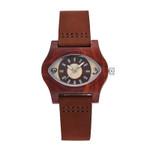 Unique Eye Shape Design Antique Wrist Wooden Watches