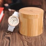 Fashion Casual Silicone Strap Wrist Luxury Wood Watches