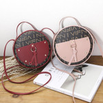 simple wild fashion retro shoulder tassel round Handbag