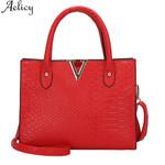 Shoulder Messenger Leather Pattern Handbag