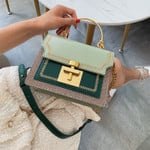 Fashion PU Leather Vintage Shoulder Clutch Casual handbag
