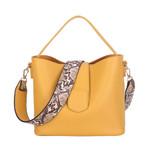 Snake Pattern Wide Shoulder Strap Handbag