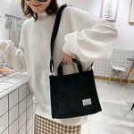 Casual Tote  Zipper Shoulder Cotton Vintage Canvas Handbag