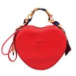 Leather Messenger Heart Shaped  Handbag