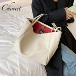 Chic Luxury Simple Casual Tote Leather Handbags