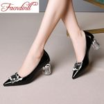 pumps fashion genuine cow leather sexy high heels