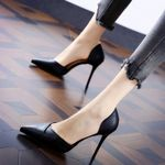 Sexy Hollow Out Pumps Pointed Toe High Heels