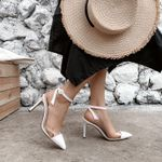Pumps Pointed Toe Fashion Ankle Strap High Heel