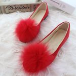 Fashion Flock Slip-On Round Toe Casual Flat Shoes