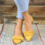 Fashion Pointed Toe Fashion Casual Loafers Soft Flat Shoes