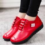 Fashion Pu Leather Plush Slip On Flat Shoes