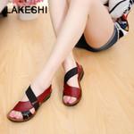 Soft Bottom Peep Toe Fashion Leather Classic Sandals
