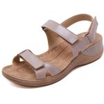 Low Platform Comfort Med Wedges Sandals