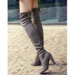 Lace Up Sexy High Heels Faux Suede Over The Knee Boots