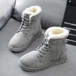 Mid-Calf Cotton Warm Fur Snow Boots