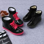Warm Casual Waterproof Rain Short Ankle Lace Up Boots