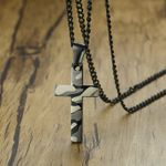 Army Camouflage Print Cross Pendant Necklace