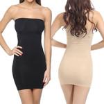 Fashion  Strapless Slip Seamless Mini Dress