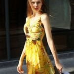 Party Print Sunflower Sleeveless  Sexy Dresses