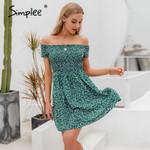 floral print A-line Elegant off shoulder dress