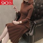 Fashion Warm  Slim Female Knit Sweater Dress