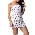 Slash Neck Fashion Sleeveless Print Dress