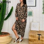 Beach Casual Robe  Long Leopard Dress