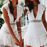 Lace Backless V-Neck Sexy Sleeveless Vintage Dress