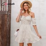 off shoulder sexy ruffles dress casual vintage dresses