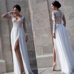 long sleeve lace bride Bridal lace wedding dresses